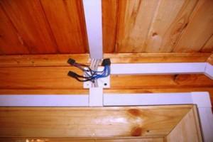 Монтаж электропроводки в деревянном доме 06