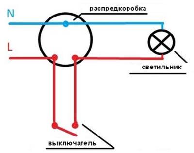 Подключение выключателя 04
