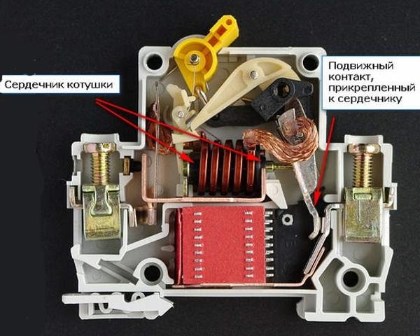 Устройство автоматического выключателя 044