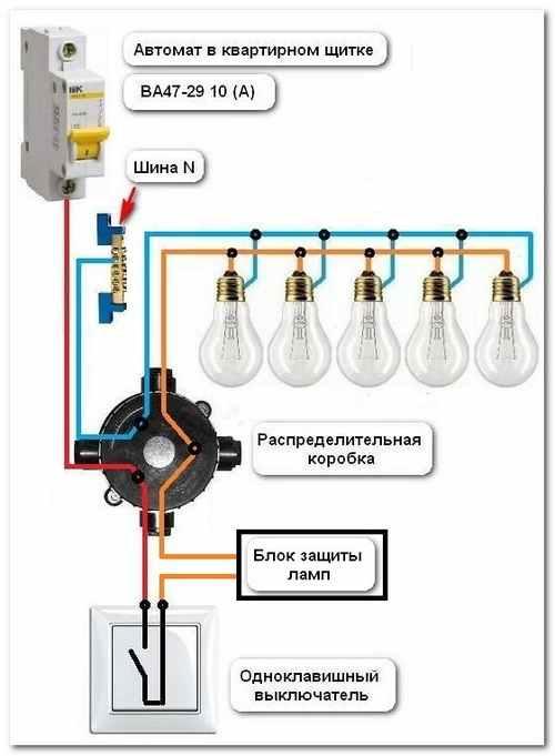 Установка устройства плавного включения ламп 02