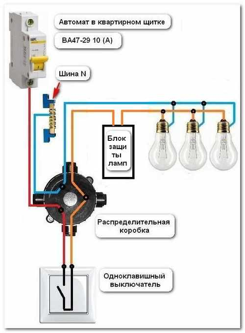 Установка устройства плавного включения ламп 03