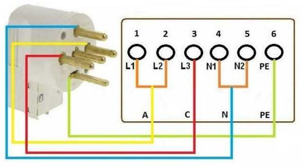 Схема подключения электроплиты 03