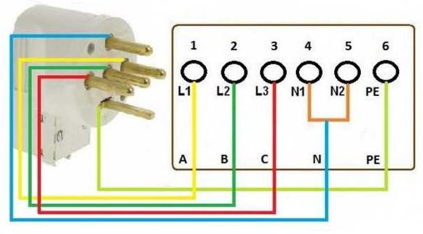 Схема подключения электроплиты 04