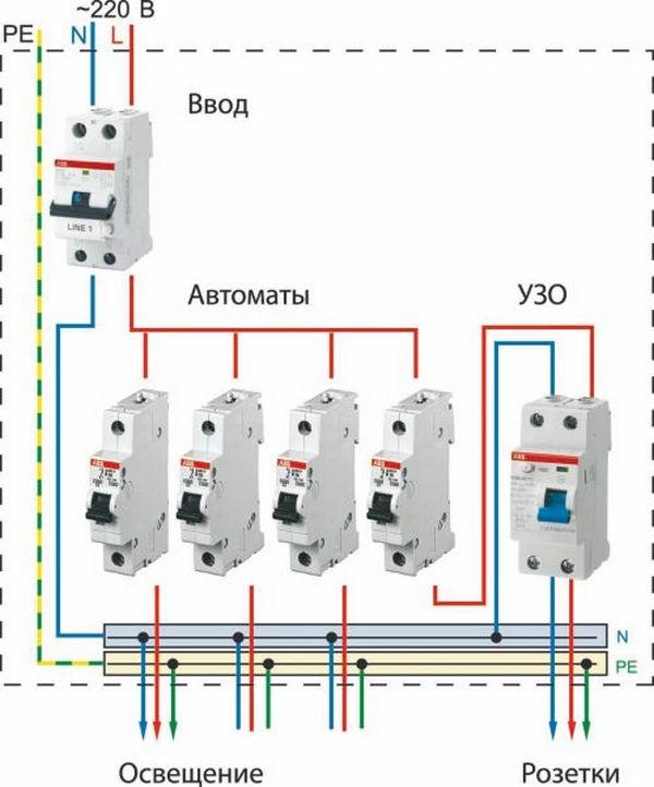 Вариант схемы электропроводки 05