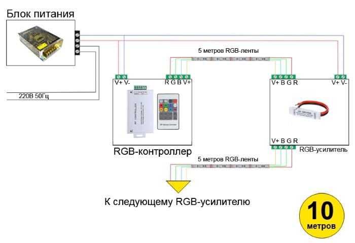 Схема светодиодной подсветки 08