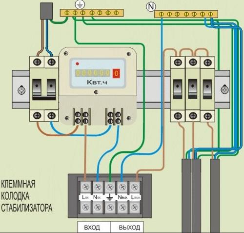 Подключение стабилизатора напряжения 04