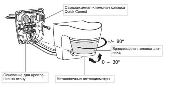 Конструкция датчика движения