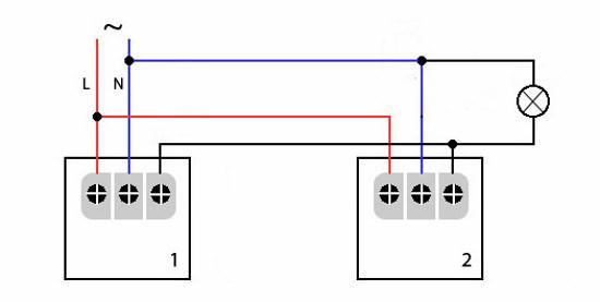 Схема подключения датчика движения 05