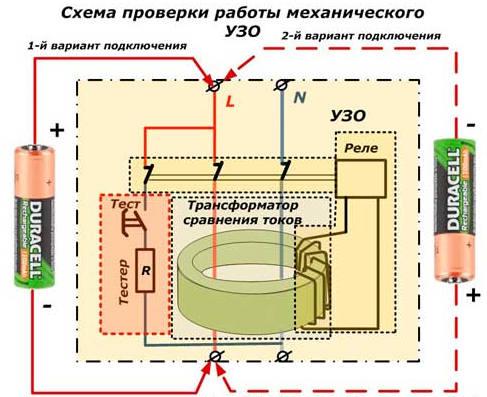 УЗО электронное или электромеханическое 05