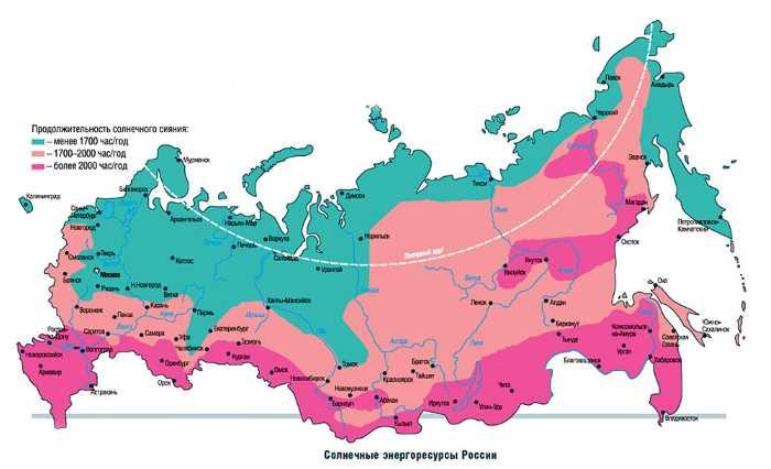 Карта освещенности