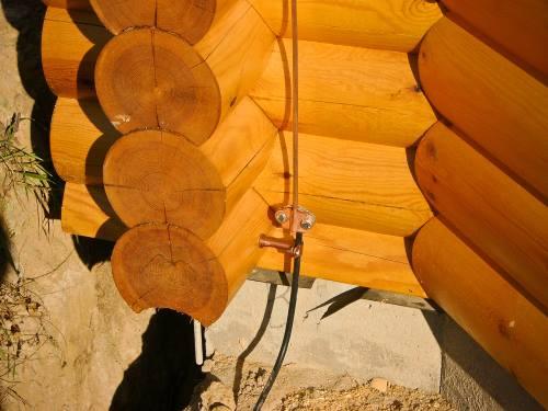 Монтаж молниезащиты на деревянном доме