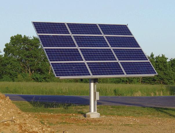 Установка солнечных панелей на трек систему