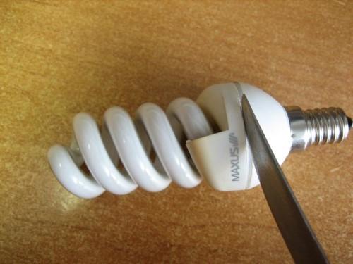 Разборка энергосберегающей лампы