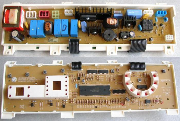 Ремонт модуля управления стиральной машины 01