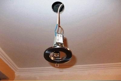 Схема подключения точечных светильников 01