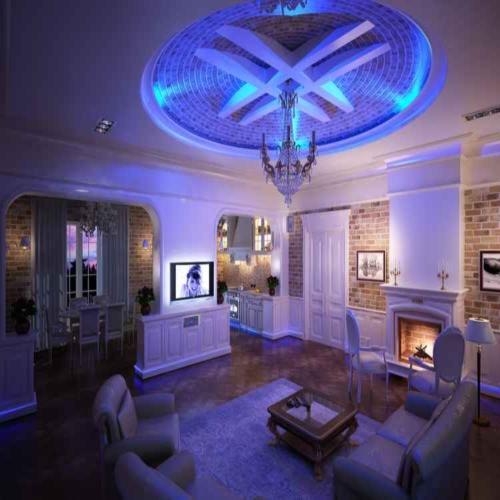 Декоративная подсветка гостиной