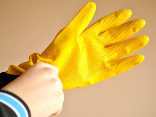 Перчатки для сбора осколков энергосберегающей лампы и ртути