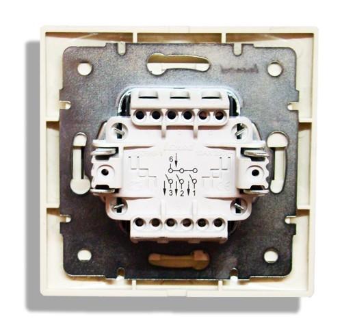 Схема подключения трехклавишного выключателя на задней стенке