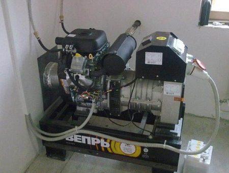 Установка дизельного генератора в помещении