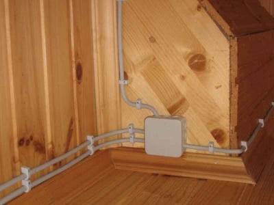 Злектропроводка в деревянном доме
