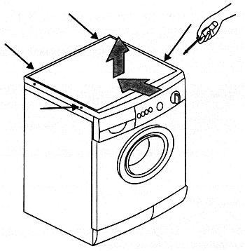 Крышку стиральной машины