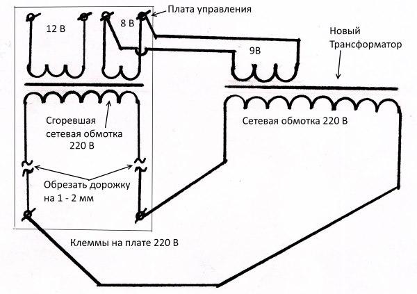 Ремонт трансформатора микроволновки