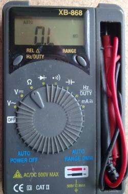 Автоматический мультиметр XB-868