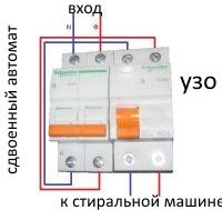 Подключение стиральной машины и УЗО