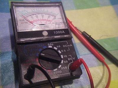 Стрелочный тестер для прозвонки проводов