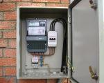 Установка электросчетчика в частном доме 100
