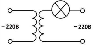 Схема трансформатора безопасности