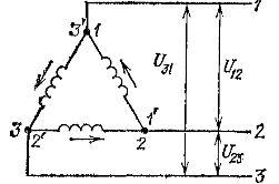 Электрическая схема соединений треугольник