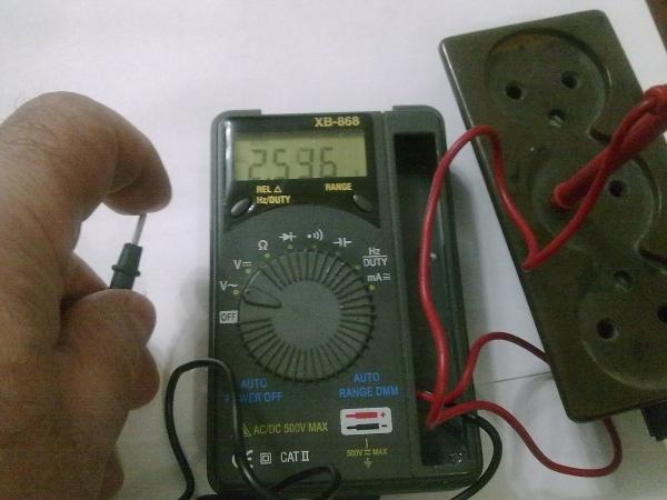 Контактный способ проверки мультиметром