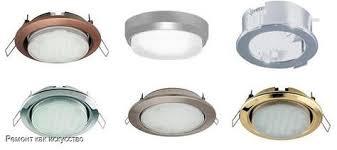 Монтаж светильников в потолок